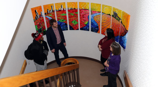 Art Adds to Atmosphere in Valparaiso University Law Library
